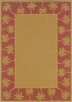 "Palm Ii Area Outdoor Area Rug, 7'10"" ROUND, RED BEIGE Home Decorators Collection,http://www.amazon.com/dp/B0041F3124/ref=cm_sw_r_pi_dp_nX7Gtb0V8CQESZXW"