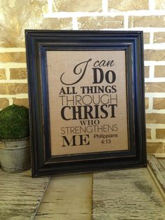I can do all things   Philippians 413  by SimplyFrenchMarket,