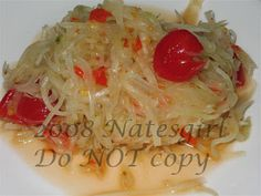 Som Tum Recipe (ส้มตำ): Thai (Lao, Laotian) Green Papaya Salad - one of my favourites