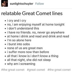 i feel like putting my arms around my knees<< I've aged so much Great Comet Of 1812, The Great Comet, Broadway Theatre, Musical Theatre, Theatre Nerds, Theater, I Have No Friends, Dear Evan Hansen, Les Miserables