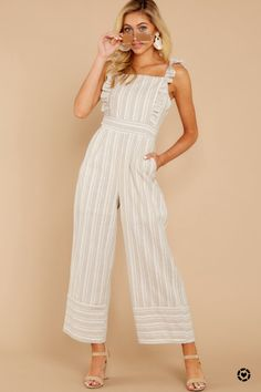 Shop Your Screenshots™ with LIKEtoKNOW.it, a shopping discovery app that allows you to instantly shop your favorite influencer pics across social media and the mobile web. Strapless Crop Top, Striped Two Piece, Jumpsuit Outfit, Striped Jumpsuit, Elegant Outfit, Cropped Pants, Playsuit, Passion For Fashion, My Style