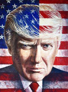 Donald Trump acrylic | Donald Trump Patriot Painting by Maya Spielman