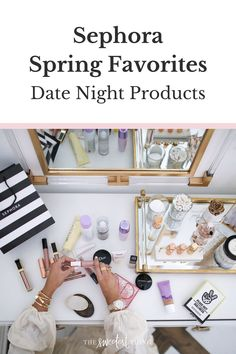 A few beauty products that have become holy grail staples - and are total favorites! See the full list of my Sephora Date Night Favorites! | Spring Makeup | The Sweetest Thing by Emily Gemma Sephora Haul, Sephora Makeup, Beauty Tips For Skin, Best Beauty Tips, Best Skincare Products, Beauty Products, The Sweetest Thing Blog, House Of Lashes, Makeup Must Haves