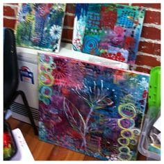 Sue's Craft Cupboard: SPLASHING PAINT AROUND