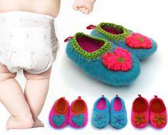 Felt slippers. Hand embroiderings. Non-slide sole. 100% hand made. www.makas.com.ar