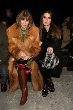 Anna Wintour with Bee Shaffer
