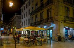 Popular on 500px : Baixa by Night by Aperturix
