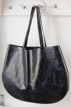 Black hobo bag every day hobo bag by patkas on Etsy