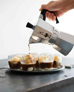 Piccolo Affogato al Caffe - This Italian coffee-and-gelato concoction works as an after-dinner drink and a dessert.