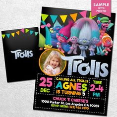 Free Trolls Birthday Party Printables