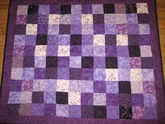 For relay for life Auction. Purples. purple quilt.