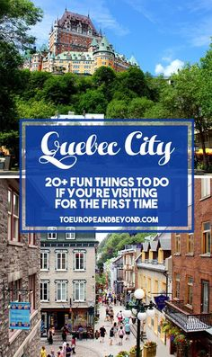 A list of things to do in #Quebec City for first-time visitors who want to see and do it all. Includes day trip, food, and coffee recommendations! #Canada via @marievallieres