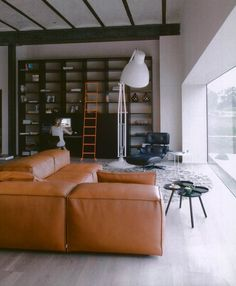 Sofa, bookshelves & | http://desklayoutideas.blogspot.com