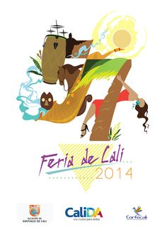 Feria de Cali 2014 on Behance Cali Colombia, Fictional Characters, Behance, Salsa, Posters, Shirt, Poster, Proposal, Drawings