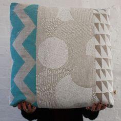 linen pieced floor cushion