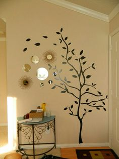 Entryway Wall Decor narrow entryway table. wall clock with wall decorations work well