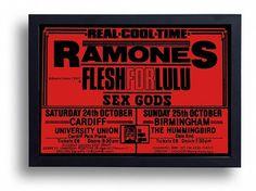 Ramones Flesh For Lulu Framed Gig Poster Print by indieprints, $20.00