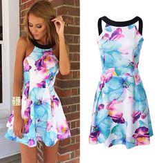 Floral Print Women's Dress