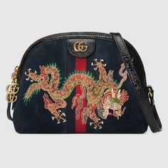 Ophidia embroidered small shoulder bag