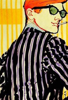 "Illustration by René Gruau, 1972, Cover Design ""Sir""."