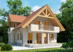 Modern Bungalow House, Bungalow House Plans, Small House Plans, Minimalist House Design, Small House Design, Modern House Design, Home Building Design, Building A House, House Extension Design