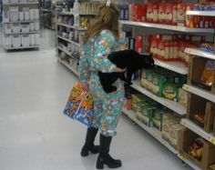 Let Your Cat Decide What She Wants To Eat - Funny Pictures at Walmart ----