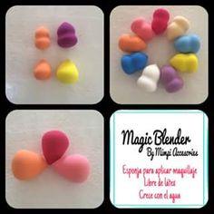 Magic Blender Esponja para maquillar Libre de látex Crece con agua  No deja líneas  $130.00 c/u