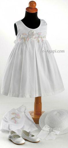 Baby girl baptism dress Christening outfit Greek by eAGAPIcom