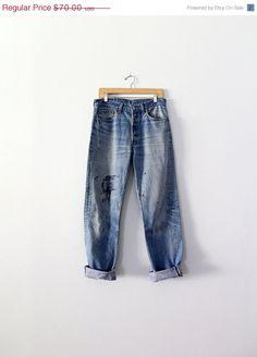 ada067ac0a6c43 Vintage Levis 501 Jeans   1980s Levis Denim   Waist 32