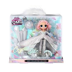 Amazon Com L O L Surprise O M G Crystal Star 2019 Collector Edition Fashion Doll Toys Games Lol Dolls Glitter Globes Collectible Dolls