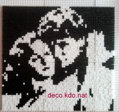 DECO.KDO.NAT: Perles hama: tableau dirty dancing portrait