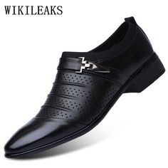 d41dc90de96 Hollow out oxfords formal shoes mens leather wedding shoes black heren  schoenen oxford shoes for men dress shoes 2018 loafers