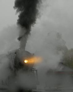 Smoking Train in the Mist