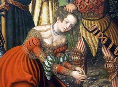 Detail of The Martyrdom of Saint Barbara by Cranach in the Metropolitan Museum of Art