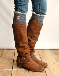 OHIO STATE Boot Socks