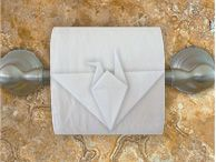 origami toilet paper. Sounds weird but I'm still gonna do it. XD #crane