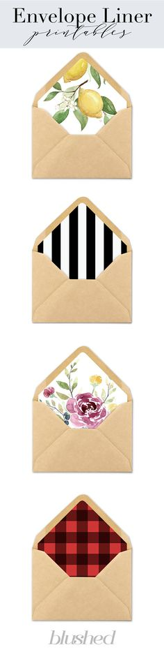 Unique Envelope Liners — Make your invitations stand out with affordable and unique envelope liners that your guests will fall in love with!