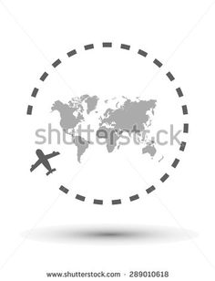 map, design art, center, vector illustration, background - stock vector