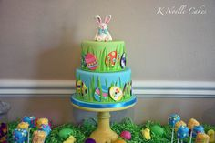 Easter theme birthday cake By K Noelle Cakes