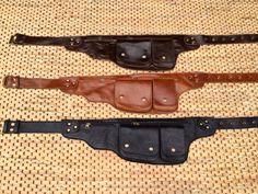 Leather Utility  Belt / Hip Bag / Fanny Pack - IPhone Wallet, Passport Holder, Pocket  - The Explorer