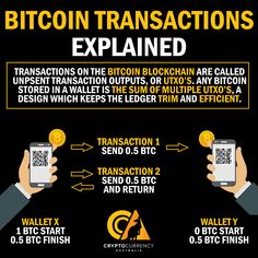 Bitcoin transactions work by using something called UTXO, or 'Unspent Transaction Outputs' – When a transaction is sent from a wallet, the wallet creates two … Bitcoin Logo, Bitcoin Business, Buy Bitcoin, Bitcoin Account, Bitcoin Hack, Investing In Cryptocurrency, Cryptocurrency Trading, Bitcoin Cryptocurrency, Blockchain Cryptocurrency