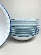 "✔ 9 Corning Corelle BLUE VELVET 7 1/4"" Soup Cereal Salad Bowls Excellent NINE!!"