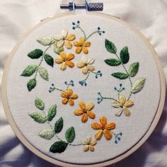 Love variegated thread! #embroidery #stitching #handmade #handembroidery #botanical #flowers #leaves
