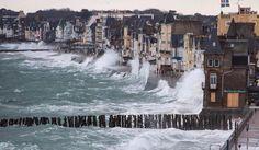 Saint-Malo, Bretagne. Grandes marées février 2015.