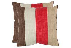 Set of 2 Corey 18x18 Pillows, Red on OneKingsLane.com, $59