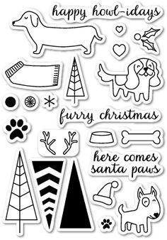 Memory Box Santa Paws - Clear Stamp