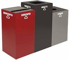 GeoCubes recycling containers