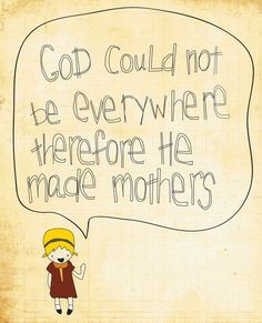 Wall Art Decor - 8x10 Illustration Art Print - Everywhere - God, Mothers, Quote, Baby Shower, Mother's Day