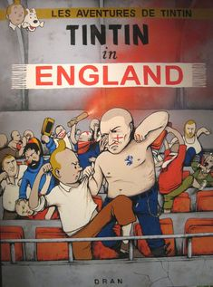 Super Punch: Tintin goes to a soccer game. By Dran (http://retroactif.free.fr/dran/)