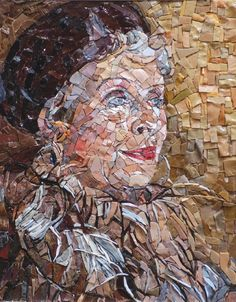 Mrs Emery Reves - Tribute to Graham Sutherland in mosaic by Cristina De Leoni